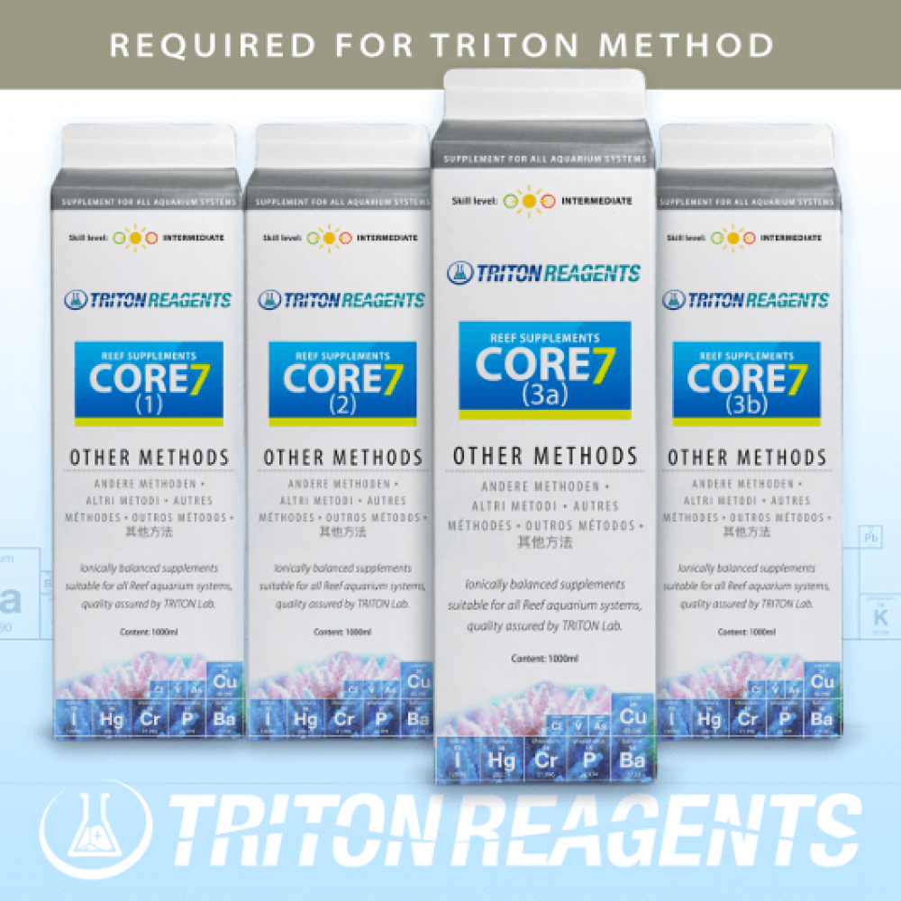 TRITON SET Core7 Reef Supplements 1L & 10L- 4er Set für andere Methoden